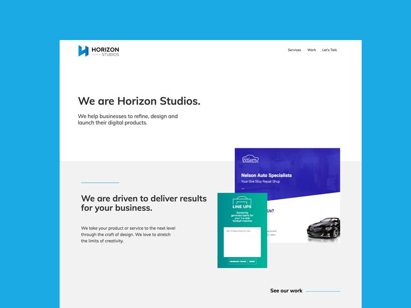 We are Horizon Studios. website digital creative agency horizon design web design