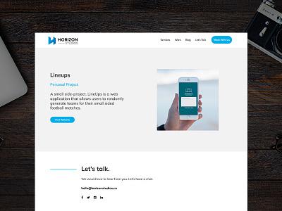 Project Case Study case study project website digital creative agency horizon design web design