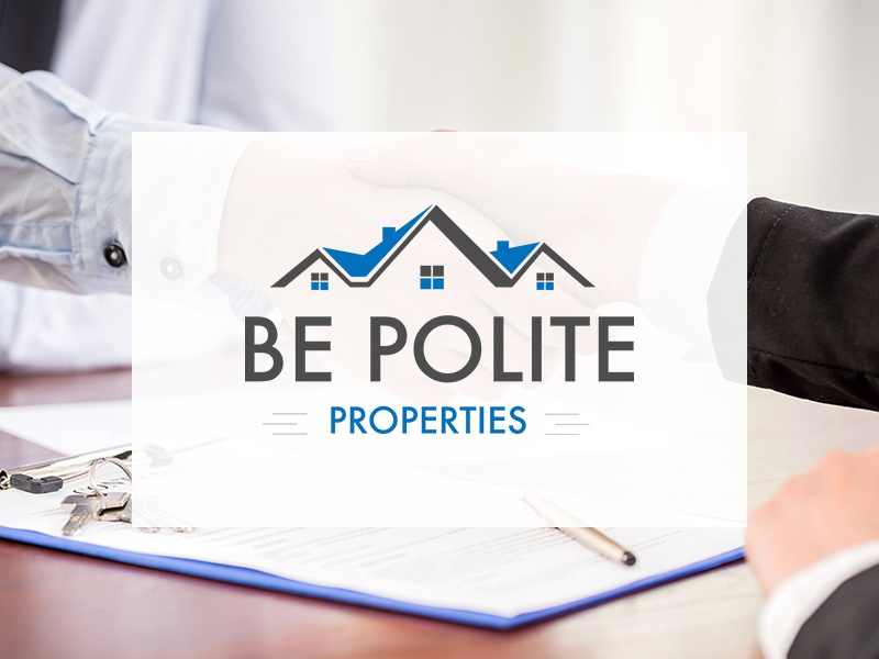Be Polite Properties - Logo Design investment real estate design logo