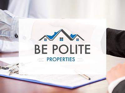 Be Polite Properties - Logo Design investment real estate design logo