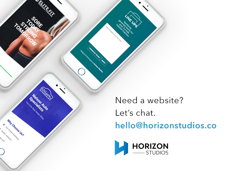 Need a website? Let's chat. freelance work hire available branding web studio agency design web design website