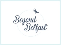 Beyond Belfast (Refined) travel blog logo design colour branding beyond belfast belfast