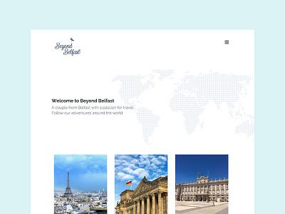 Beyond Belfast - Website web design website travel blog logo design colour branding beyond belfast belfast