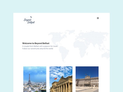 Beyond Belfast - Website web design website travel blog logo design colour branding beyond belfast belfast