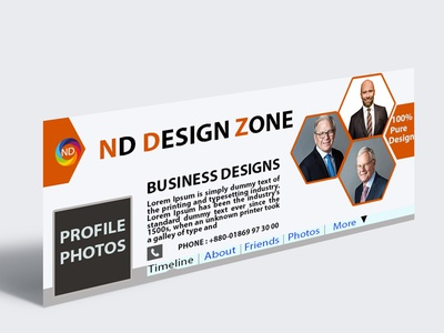 Simple Professional Facebook Cover Page Design