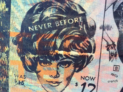 Never Before - Detail Screen Print on Wood