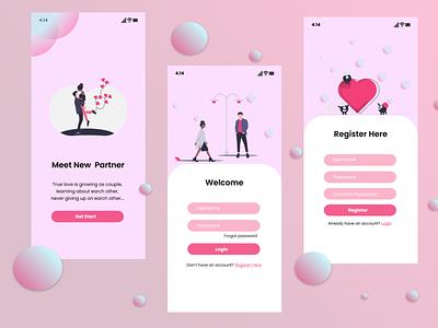 Meet New Partner design ui
