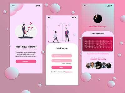 Meet new partner with app design ui