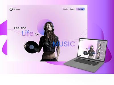 Music web App illustration design web ux ui