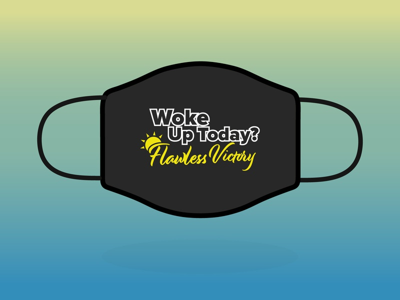 Woke Up Today? woke victory stay home together health safe covid-19 playoff adobe illustrator contest design