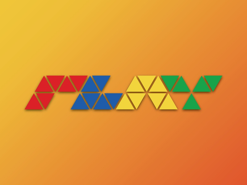 Weekly Warmup #5: Letterform rebound triangles letterform player typography illustration warmup vector design