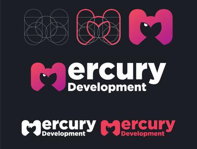 Mercury Development Logo Re-Design Entry mercury challenge ux ui shapes logo design space helmet contest design branding logo vector