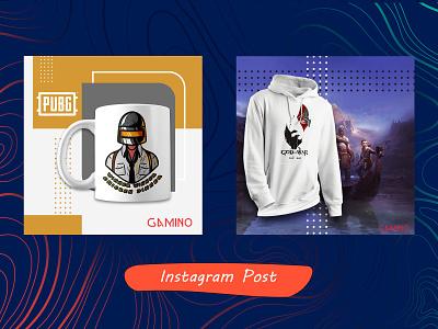 instagram post for gamino isntagram design طراحی گرافیک psd poster post photoshop پست اینستاگرام