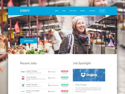 Jobify Blue Larger Preview astoundify careers classifieds directory employment job job board job listing job postings job site job theme jobboard