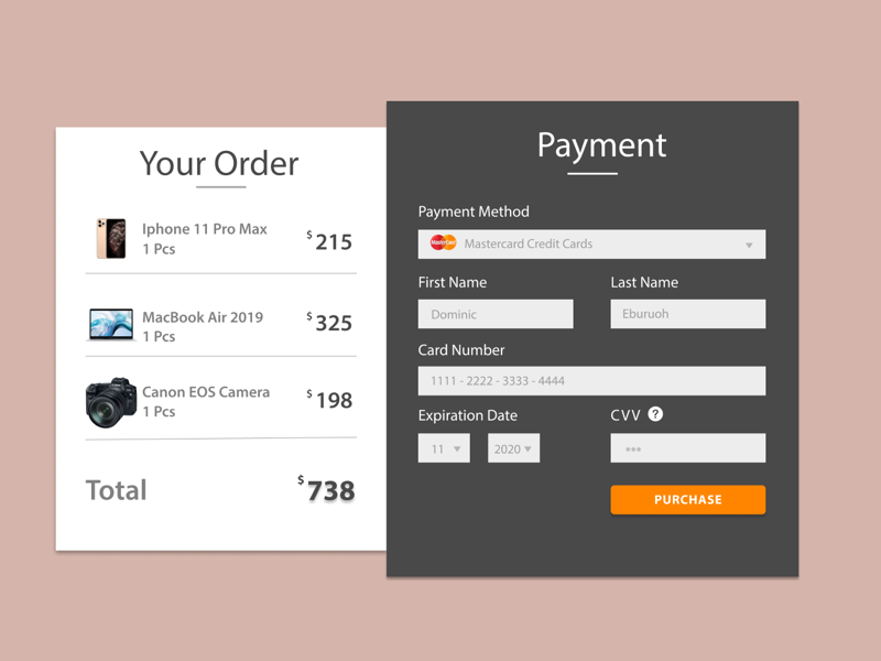 Credit card checkout page product design graphics design sketch adobe figma dailyui