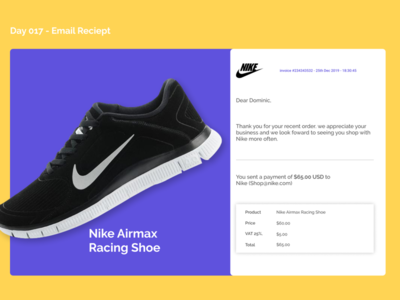 Email Receipt - Daily UI - Day 17
