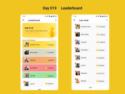 Leaderboard - DailyUI - Day19