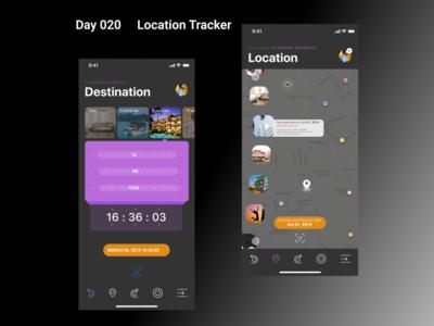 Location Tracker- DailyUI - Day20