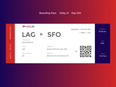 Boarding Pass - DailyUI - Day24