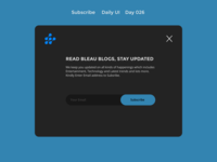Subscribe - DailyUI - Day26