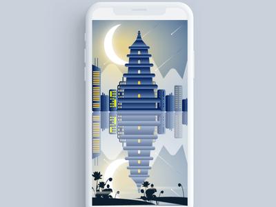 Illustration of Big Goose Pagoda
