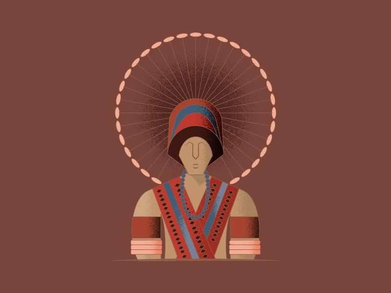 Angami tribesman india indian tribe angami tribe flat illustration flat 2d character 2d art 2d tribe tribal texture graphic humanillustration vector illustration design illustration designdaily adobe illustrator