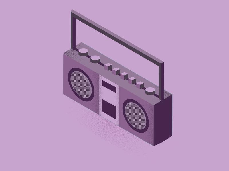 Cassette Player button design button cassette vector illustration electronic isometric illustration isometric cassette player vector illustration designdaily adobe illustrator