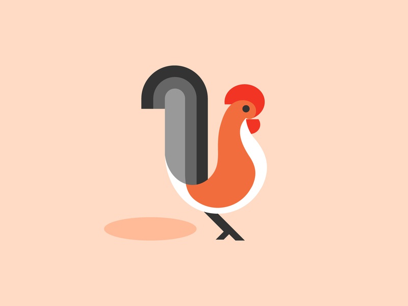 Hen geometric bird icon bird illustration bird hen 2d flat illustration flat icondesign 2d art vector illustration design design art illustration designdaily adobe illustrator