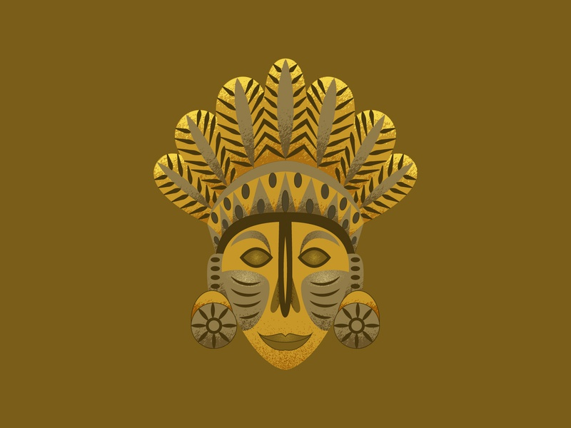 Mayan Tribe Mask geometric tribe mayan mayan tribe 2d art texture ancient face mask 2d flat illustration flat design vector illustration design design art illustration designdaily adobe illustrator