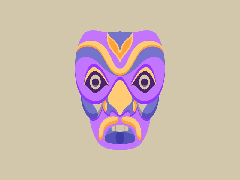 Tribal Mask tribal geometic ancient graphic 2d art flat illustration 2d vector illustration design design art illustration designdaily adobe illustrator