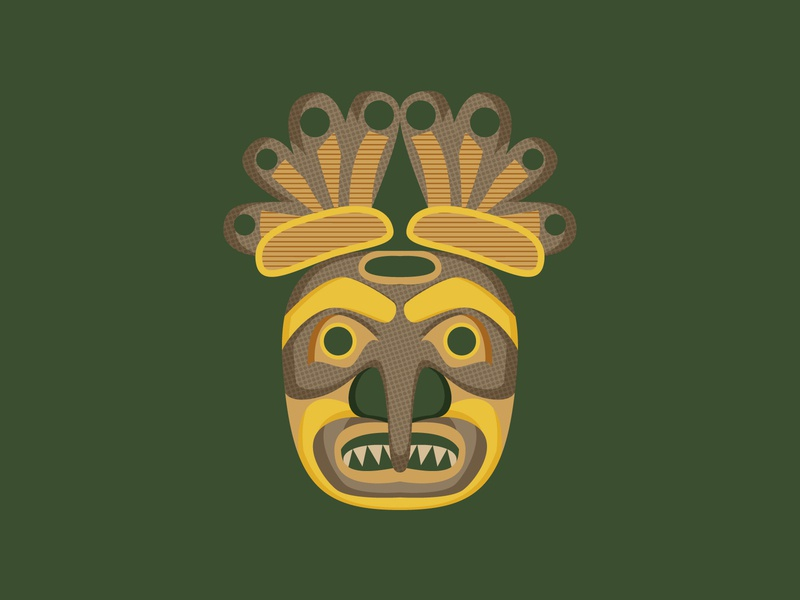 Pacific NW Tribal Mask ancient texture geometric tribal 2d art 2d flat illustration flat design vector illustration design design art illustration designdaily adobe illustrator