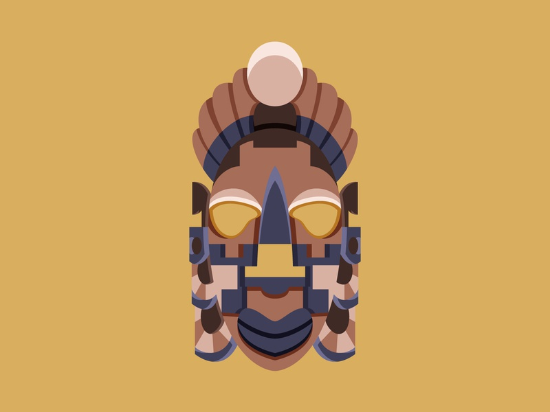 Mayan Tribe tribe mayan mask ancient geometric graphic 2d art 2d flat illustration flat vector illustration design design art illustration designdaily adobe illustrator