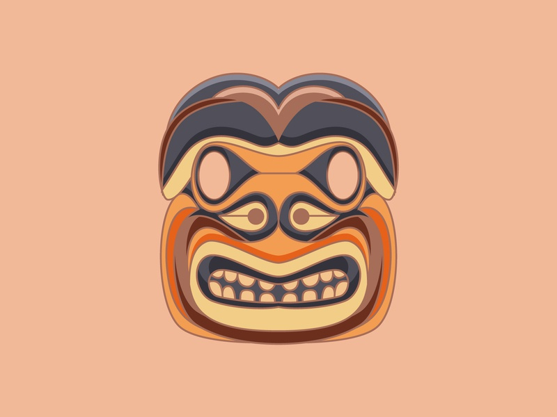 Tribal Mask ancient bribe tribal geometric 2dart 2d flat illustration flat design vector illustration design design art illustration designdaily adobe illustrator