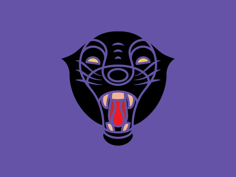 Black Panther logo animal illustration animal logo animal black panther 2d art 2d flat illustration flat design vector illustration design design art illustration designdaily adobe illustrator