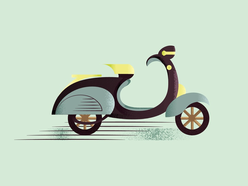 Scooter vintage ride vehicle texture graphic vintage design scooters scooter geometric 2d art 2d flat illustration flat design vector designdaily adobe illustrator illustration