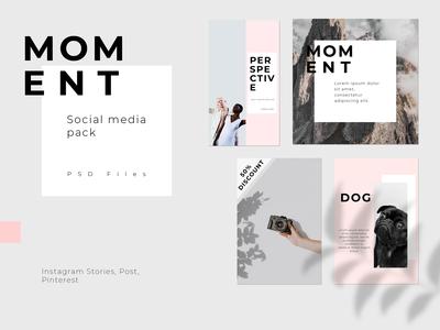 Social Media Pack - MOMENT