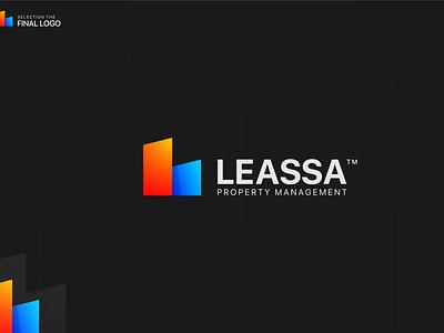Leassa Gradient Logo Design business ecommerce branding ui gradient logo icon design icon design logo design logo