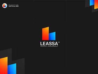 Leassa Gradient Logo Design realestate business ecommerce gradient gradient logo modern logo illustration branding ui icon icon design logo design logo
