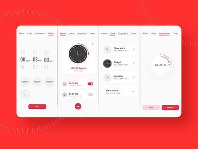 Mobile Clock App Ui Design 3d