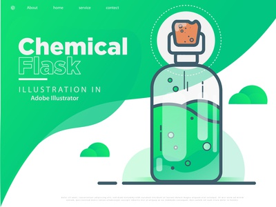 Chemical Flask Web Page Template Design