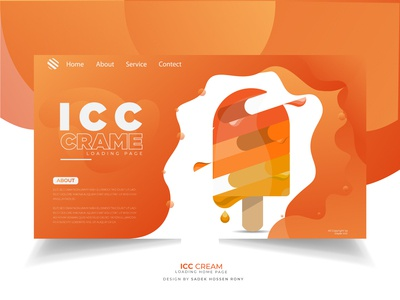 icc cream web Loading page design