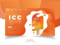 icc cream web Loading page design
