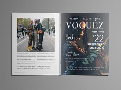 Vogue magazine template indesign graphic design print magazine design vogue template magazine