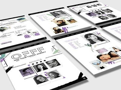 Webdesign Model Agency offfmodels webdesigner collage brush paint model agency model website uidesigns uidesign webdesign