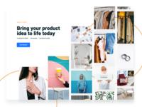 Photo Grid heebo minimalistic ui landing manufacturer brands product unsplash grid photo