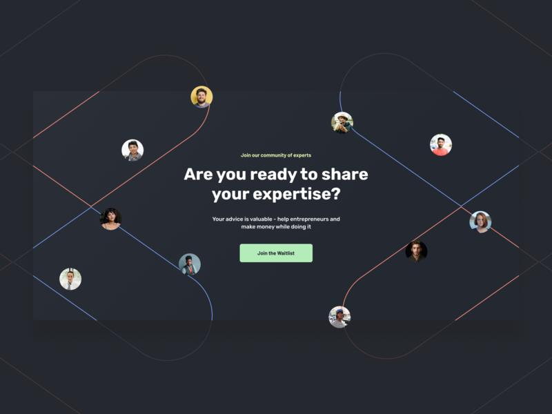 Embark.live - Join our Community rubik minimal profile entrepreneurship entrepreneur customer advice expert theme dark landing modern icons waitlist design landing page