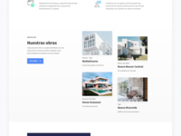 Real Estate Proposal landing page white font mada building construction minimalistic ui design landing real estate agency real estate