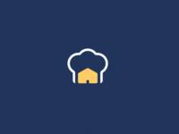 Homemade Food Logo branding whitespace minimal hay cook cooking house home homemade bakery food minimalistic flat logo brand design