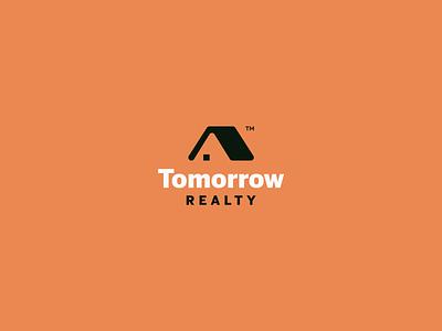 Real Estate Logo Proposal orange tent building house real estate estate real proposal logo
