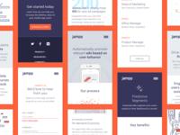 Jampp's responsive screens